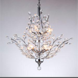 Lámparas modernas de cristal
